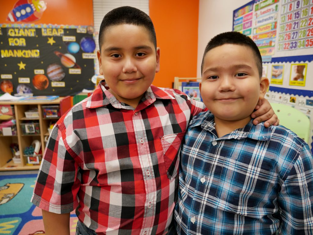 Brothers attend early childhood education center Gulfton Promise Head Start